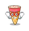 super hero ice cream tone character cartoon vector image vector image