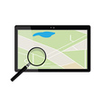 tablet gps device vector image vector image