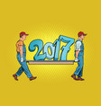 the ending 2017 figures carry movers vector image vector image