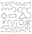 thin arrows black simple design elements vector image