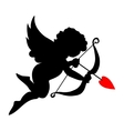 valentine cupid icon with arrow and wings vector image vector image
