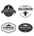 vintage set happy halloween vintage badges vector image vector image