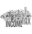 why income tax hurt income earners and workers vector image vector image