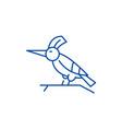 woodpecker line icon concept woodpecker flat vector image vector image