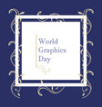 world graphic day design flat style vector image
