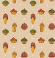hand drawn cartoon autumn seamless pattern vector image