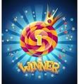 winner window vector image