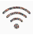 group people shape WI FI vector image