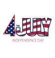 4th of July Independence Day vector image vector image