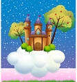 A castle on a cloud vector image vector image