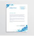 abstract blue creative letterhead design vector image vector image