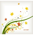 Autumn leaves nature background vector image