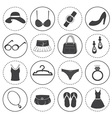 Basic Fashion Icons Collection vector image vector image