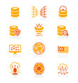 big data icons - juicy series vector image