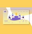 Business career landing page template website