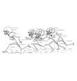 cartoon american football player running vector image