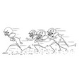 cartoon of american football player running with vector image vector image