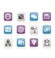 Casino and gambling icons vector image