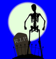 cemetery bones vector image vector image