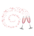 Champagne Bubbles Swirl Background vector image