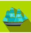 Columbus ship flat icon vector image vector image