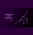contemporary dancing girl outline on a dark vector image