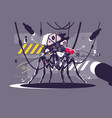 cybernetic robot mosquito drone vector image vector image