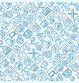 digital marketing seamless pattern vector image vector image