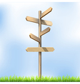 Direction road wooden signs vector image