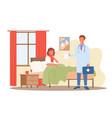 doctor visit medical diagnostic healthcare vector image vector image