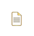 Document computer symbol vector image vector image