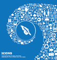 Feather icon sign Nice set of beautiful icons vector image vector image