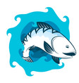 fish and water vector image vector image
