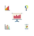 flat icon diagram set of chart monitoring pie vector image vector image