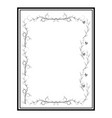 frame of twig card vector image vector image