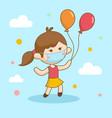 girl with balloon good for print design vector image
