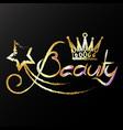 golden crown beauty vector image