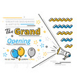grand opening celebration ceremony banner vector image vector image