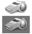 gray whistle vector image vector image