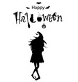 happy halloween text banner card monochrome vector image