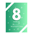 happy womens day on pink background spring design vector image vector image