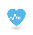 heartbeat heart beat pulse flat icon for medical vector image vector image