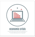 icon on a theme of economic crisis with notebook vector image vector image