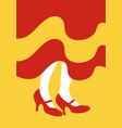 legs of flamenco dancer and dress with the colors vector image vector image