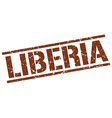 Liberia brown square stamp vector image vector image