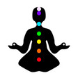 meditation pose with chakras vector image