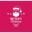 Merry Christmas card with Santa Claus on pink vector image vector image