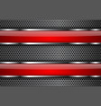 metal perforated background with red glass plates vector image vector image