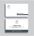 minimal business card print template design gray vector image vector image