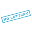 No Lottery Rubber Stamp vector image vector image